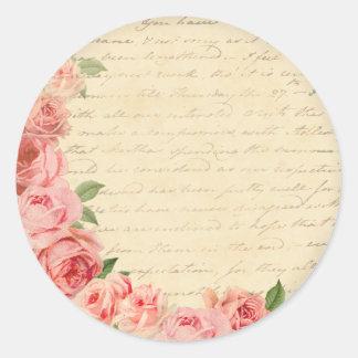 Schöner und girly Aufkleber der Vintagen rosa Rose