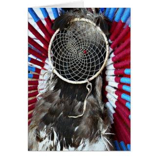 Schöner Ureinwohner-Traum-Fänger-rotes Blau Grußkarte