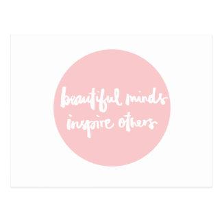 Schöner Verstand inspiriert Leute Inspirational Postkarte