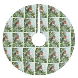 Schöner Weihnachtsbaum-Rock Robins festlicher Polyester Weihnachtsbaumdecke