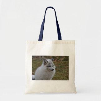 Schöner weißer schneller Fox Tragetasche