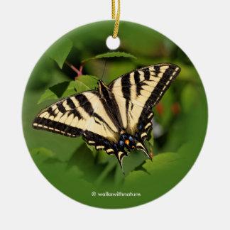 Schöner Western-Tiger-Frack-Schmetterling Keramik Ornament