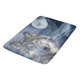 Schöner Winter-Szenen-Wolf Badematte