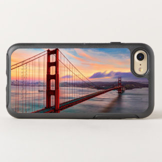 Schöner Wintersonnenuntergang bei Golden gate OtterBox Symmetry iPhone 7 Hülle