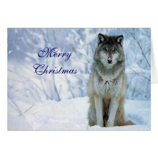 Schöner Wolf in der kundenspezifischen Karte des