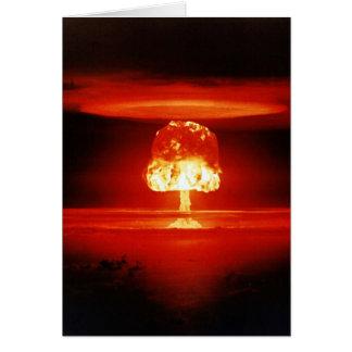 Schöner Zerstörungs-Orangen-Atompilz Karte