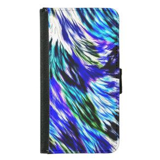 Schönes abstraktes blaues Grün-weißes lila Muster Geldbeutel Hülle Für Das Samsung Galaxy S5