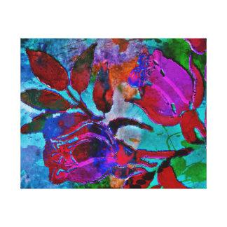 Schönes abstraktes Blumen Leinwanddruck