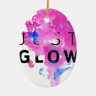 Schönes abstraktes motivierend Zitat-gerade Glühen Ovales Keramik Ornament