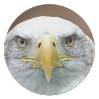 Schönes Adlerporträt Melaminteller