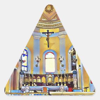 Schönes altes künstlerisches Schongebiet San Juan Dreieckiger Aufkleber