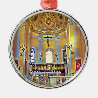 Schönes altes künstlerisches Schongebiet San Juan Silbernes Ornament