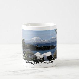 Schönes Amerika: Berg Edgecomb Kaffeetasse