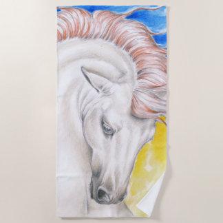 Schönes andalusisches Regenbogen-Pferd Strandtuch