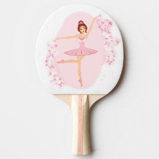 Schönes Ballerina Klingeln Pong Paddel Tischtennis Schläger