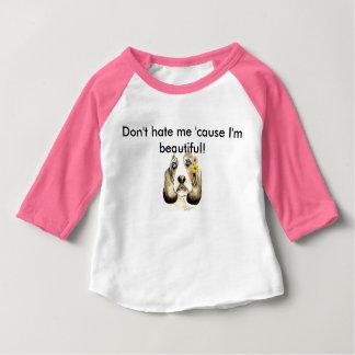 Schönes Basset Hound Jersey Baby T-shirt