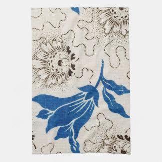 Schönes Blau mit punktierten Tüchern des Geschirrtuch