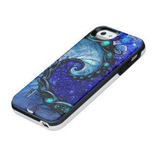Schönes blaues Notturno der iPhone SE/5/5s Batterie Hülle