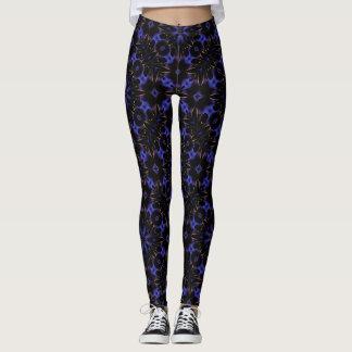 Schönes blaues und schwarzes geometrisches leggings