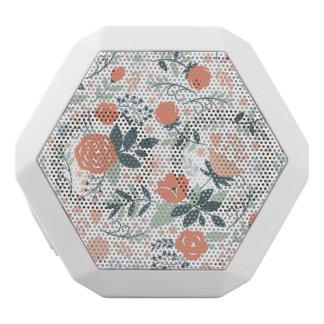Schönes Blumenmuster Girly Weiße Bluetooth Lautsprecher