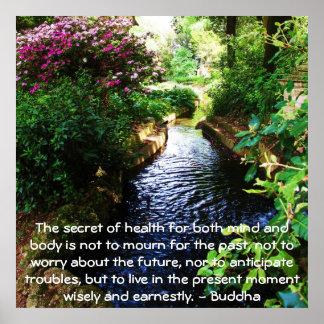 Schönes buddhistisches Zitat über Gesundheit und W Poster