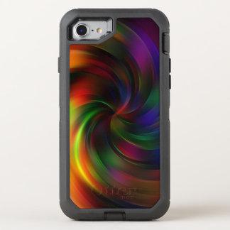 Schönes buntes Strudel-Muster OtterBox Defender iPhone 8/7 Hülle