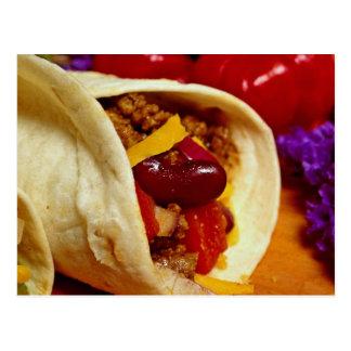 Schönes Burritorezept für Nahrungsmittelliebhaber Postkarte
