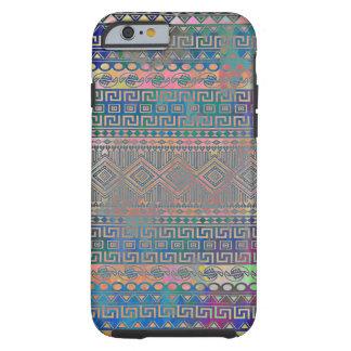 Schönes cooles buntes aztekisches geometrisches tough iPhone 6 hülle