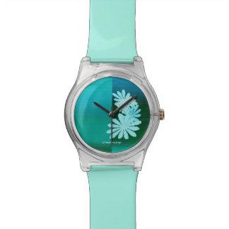 schönes Cyan-blaues Uhren