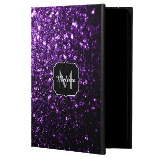 Schönes dunkles lila Glitter-Glitzern Monogramm
