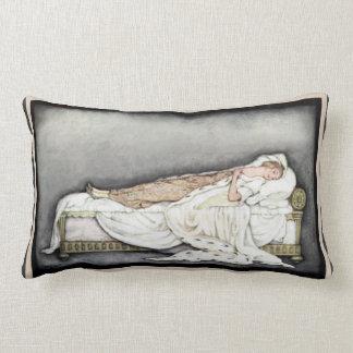Schönes empfindliches Vintages schlafendes Lendenkissen