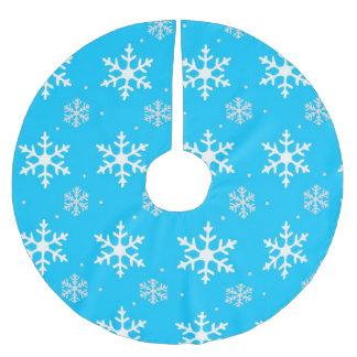 Schönes Feiertags-Schneeflocke-Muster Polyester Weihnachtsbaumdecke