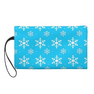 Schönes Feiertags-Schneeflocke-Muster Wristlet Handtasche