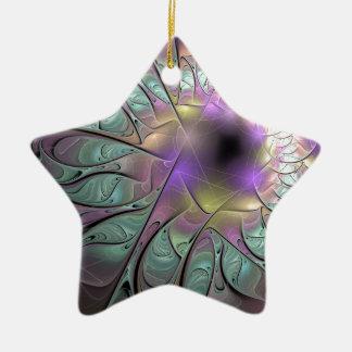 Schönes Fraktal Keramik Ornament