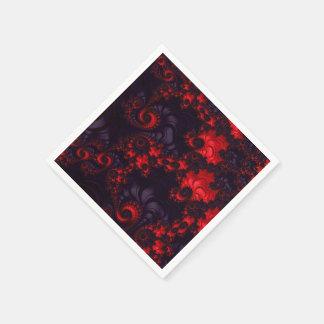 Schönes Fraktal-Muster Serviette