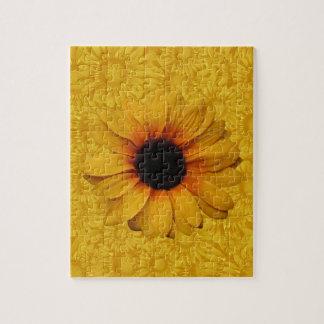 Schönes gelbes Sonnenblume-Puzzlespiel Puzzle