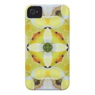 Schönes gelbes weißes abstraktes iPhone 4 hüllen