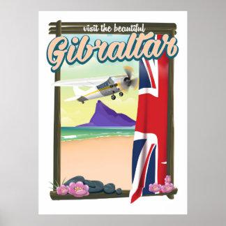 Schönes Gibraltar-Reiseplakat Poster