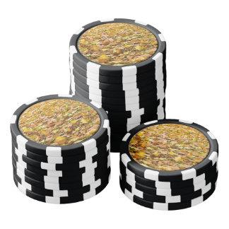 Schönes hellbraunes Herbst-Blätter Poker Chip Set