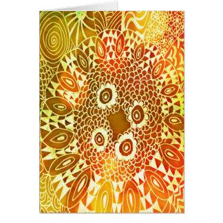 Schönes helles buntes Zen-Gekritzel Bokeh Muster Karte