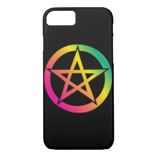 Schönes helles Pentagramm iPhone 8/7 Hülle