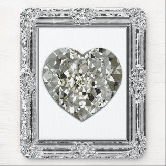 Schönes Herz der Diamanten Mousepad