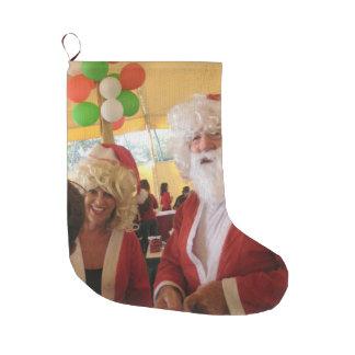 Schönes hübsches Vater-Weihnachten spät reizend Großer Weihnachtsstrumpf