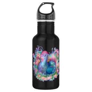 Schönes Huhn und Blumen Edelstahlflasche