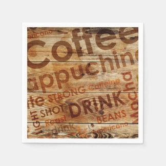 Schönes Kaffee-Küchen-Getränk Serviette