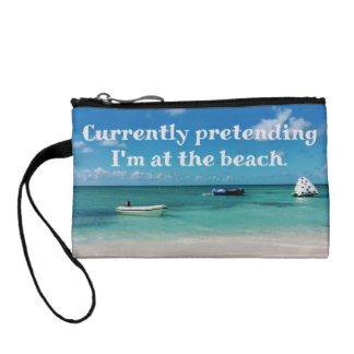 Schönes karibisches Beachscape humorvolles Zitat Kleingeldbörse