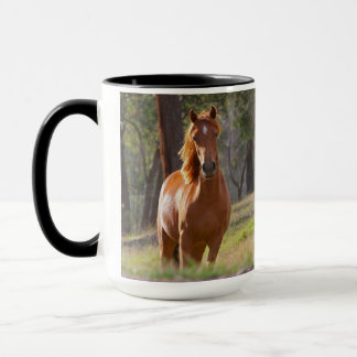 Schönes KastanienpferdeFotoporträt, Geschenk Tasse