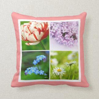 Schönes Kissen der Frühlings-Blumen