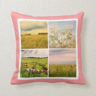 Schönes Kissen der Vintagen Felder