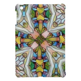 Schönes kreuzförmiges Buntglas inspirierend iPad Mini Hülle